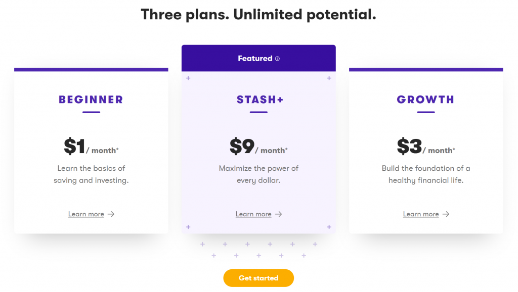 Stash Invest Plans