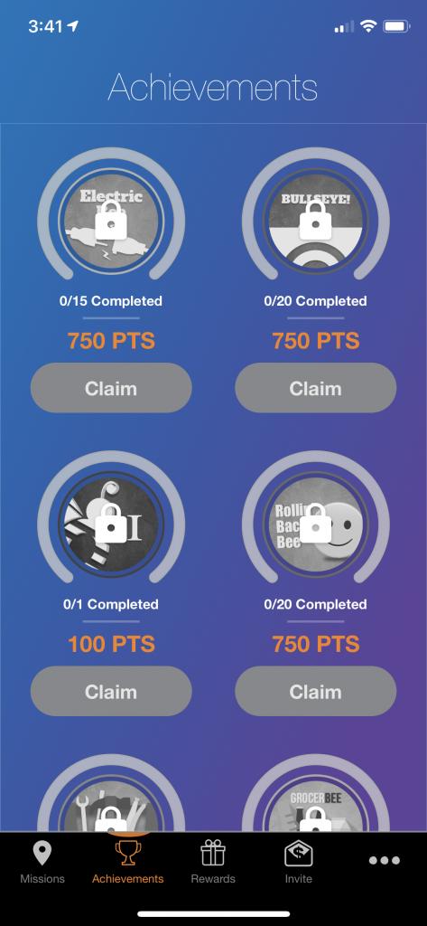 Mobee App Achievements